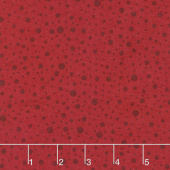 Wilmington Essentials - Red Carpet Dotty Dots Red on Red Yardage