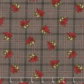 Another Moose Is Loose - Cardinal with Plaid Espresso Yardage