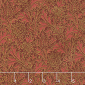 "Morris Holiday 1897 - Thistle Crimson 108"" Wide Metallic Backing"