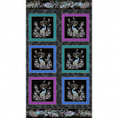 Peacock Flourish - Peacock Box Black Metallic Panel