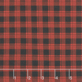Farmhouse Christmas - Plaid Red Black Yardage