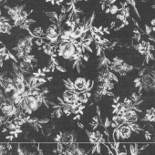 Farmhouse Rose - Toile Black Yardage
