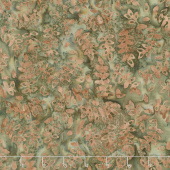 Splendor Batiks - Leaf Trails Forest Yardage