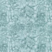 Sun N' Soil - Succulent Texture Teal Yardage