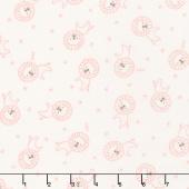 Soft & Sweet - Pink Roar Cream Flannel Yardage