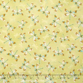 Rainbow Seeds - Dragonflies Allover Green Yardage