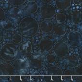 Artisan Batiks - Color Source 7 Bubbles Indigo Yardage