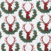 Let It Snow - Deer in Holly Milk Yardage