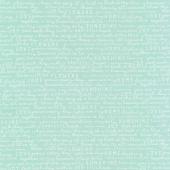 Gingham Gardens - Text Teal Yardage