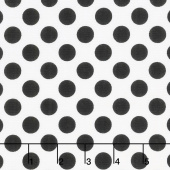 Black & White - Ta Dot Bright White Yardage