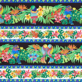 Tropical Flair - Repeating Stripe Multi Yardage