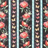 Pink Garden - Repeating Stripe Multi Yardage