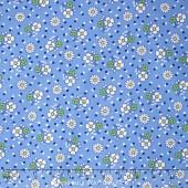 Aunt Grace - Flower Blue Yardage