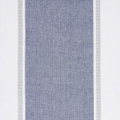 Picnic Point Tea Toweling - Wide Stripe Navy Yardage