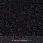 Wilmington Essentials - Midnight Dancing Buds Black on Black Yardage