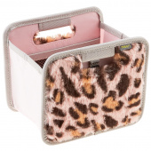 Plush Mini Foldable Box - Pink Leopard