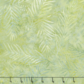 Ivy League Batiks - Delicate Fronds Light Green Yardage
