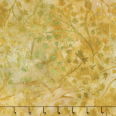 Artisan Batiks - Cornucopia 9 Branches Leaves Maize Yardage