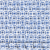 Feed Sacks: True Blue - Dot Bloom Navy Yardage