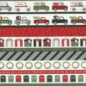 Christmas Delivery - Stripe Black Yardage