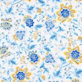 Maison Des Fleurs - Jacobean Floral White Yardage