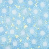 Murmur - Sunflower Turquoise Yardage