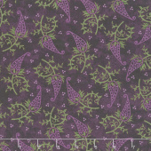 Amour - Single Paisley  Deep Plum Yardage