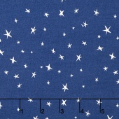 Nursery Rhymes - Stars Navy Yardage