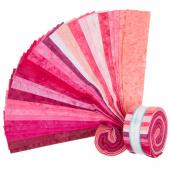 "Lava Batik Solids - Flirt 2.5"" Strips"