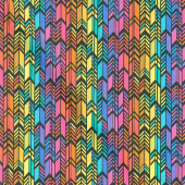 Art Theory - Rainbow Feather Night Yardage