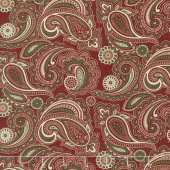Once Upon A Memory - Paisley Crimson Yardage