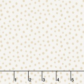 Penned Pals - Pink Colorstory Dots Tan Yardage