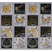 Bee Inspired - Nature Blocks Pebble Grey Panel