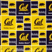 College - University of California Berkley Allover Yardage