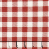 Overnight Delivery - Buffalo Plaid Vanilla Red Yardage