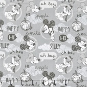 Mickey Mouse - Friends Grey Yardage