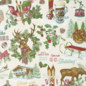 Spruce Mountain - Mountain Allover Cream Yardage