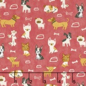 Woof Woof Meow - Small But Mighty Pink Yardage