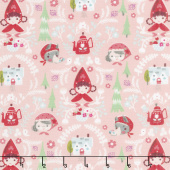 Little Red in the Woods - Damask Pink Yardage