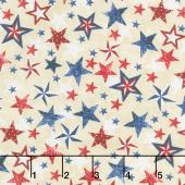 American Pride - Patriotic Stars Cream Yardage