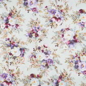 Lilac & Sage - Bouquet Sage Copper Pearl Metallic Yardage