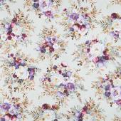 Lilac & Sage - Bouquet Sage Copper Pearl Metallic Yardage