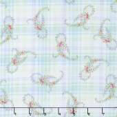 Morning in the Garden - Paisley Blue Yardage