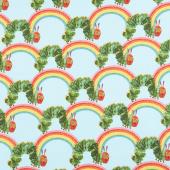 The Very Hungry Caterpillar - Bright Rainbow Teal Yardage