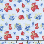 Berry Sweet - Tossed Berries Blue Yardage