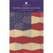 You're a Grand Old Flag Quilt Pattern by MSQC