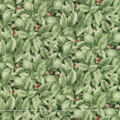 Garden Rose - Rose Buds in Leaves Green Yardage