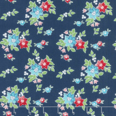 Seaside - Floral Navy Yardage