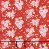 Amorette - Roses Red/Pink Yardage