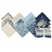 Calista Teal Pearlized Fat Quarter Bundle
